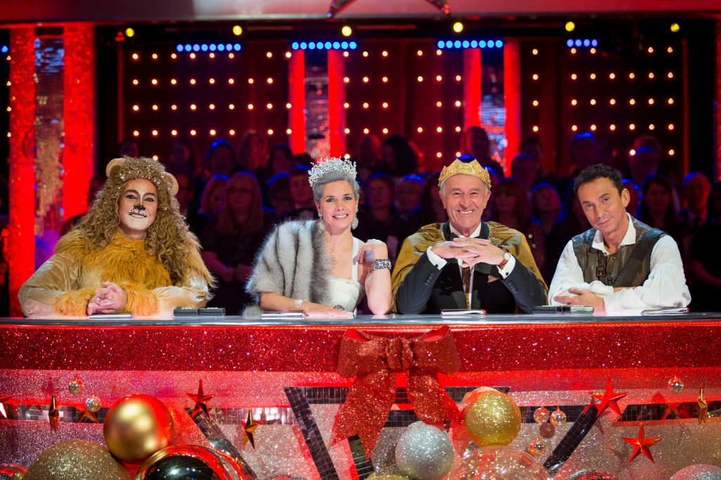 WARNING: Embargoed for publication until 00:00:01 on 03/12/2016 - Programme Name: Strictly Come Dancing 2016 - TX: n/a - Episode: Christmas Special 2016 (No. n/a) - Picture Shows: Judges Craig Revel Horwood, Darcey Bussell, Len Goodman, Bruno Tonioli - (C) BBC - Photographer: Guy Levy