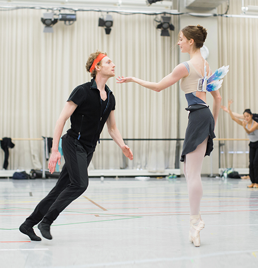 Skylar Campbell, Emma Hawes and Piotr Stanczyk in rehearsal for Pinocchio. Photos by Karolina Kuras