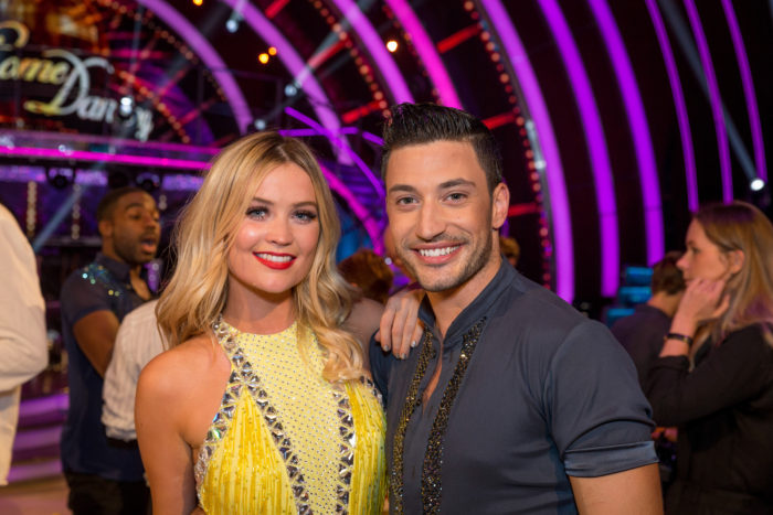 WARNING: Embargoed for publication until 20:30:01 on 03/09/2016 - Programme Name: Strictly Come Dancing 2016 - TX: 03/09/2016 - Episode: SCD S14 TX1 (No. 1) - Picture Shows: STRICTLY COME DANCING - TX1 - COUPLES! Laura Whitmore, Giovanni Pernice - (C) BBC - Photographer: GUY LEVY