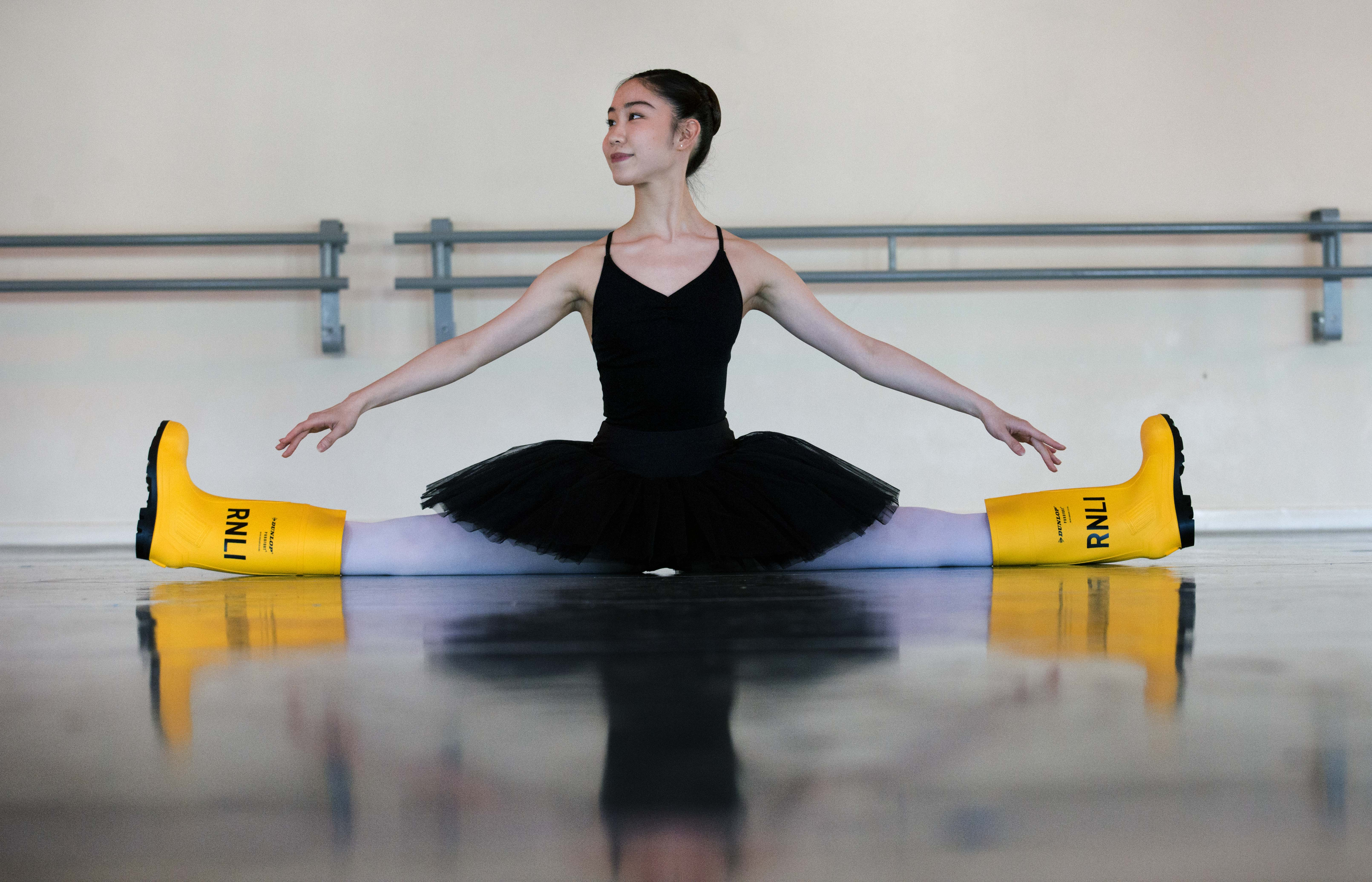 Students at the Northern Ballet School, Manchester, backing a new RNLI charity campaign.