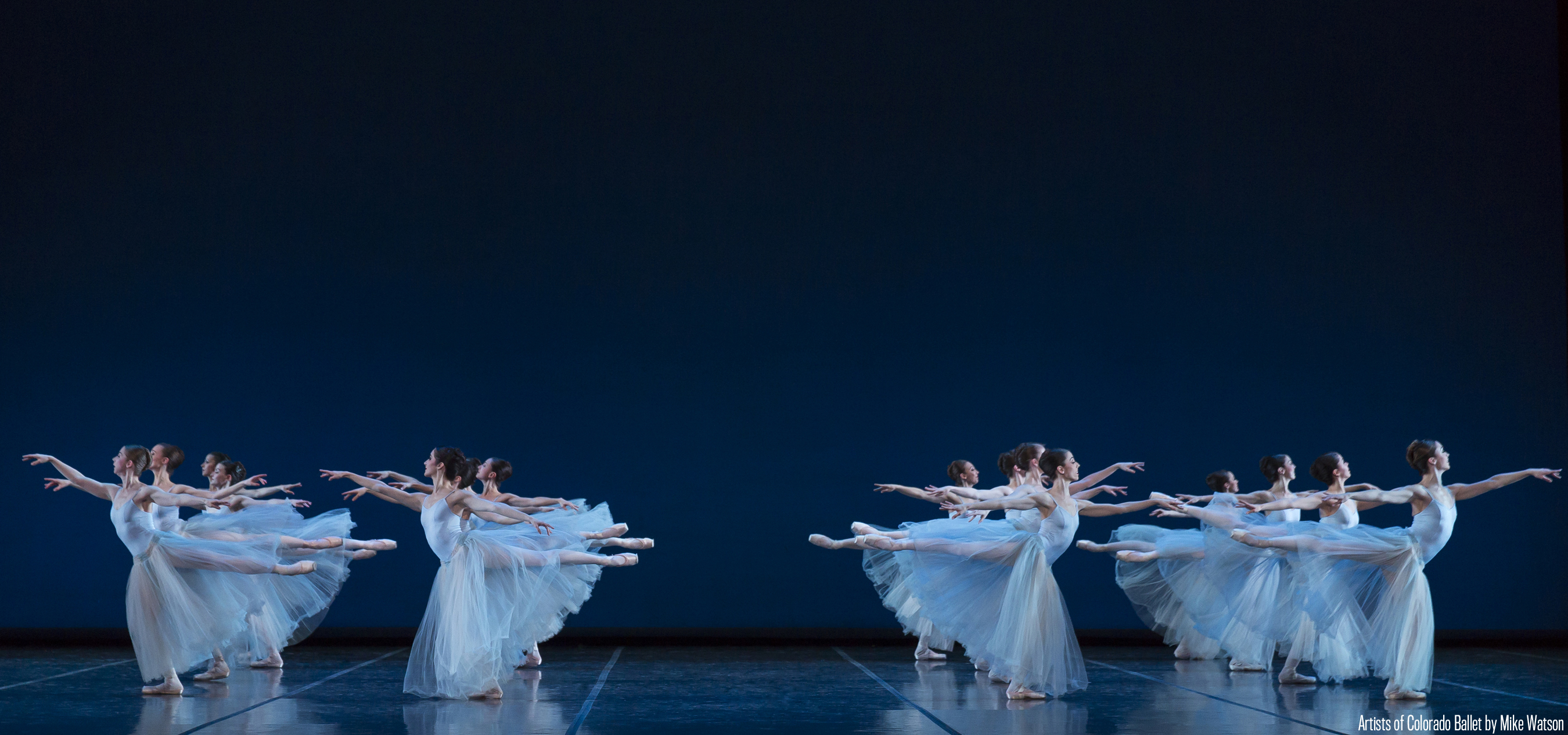 Artists of Colorado Ballet in Serenade - photo by Mike Watson