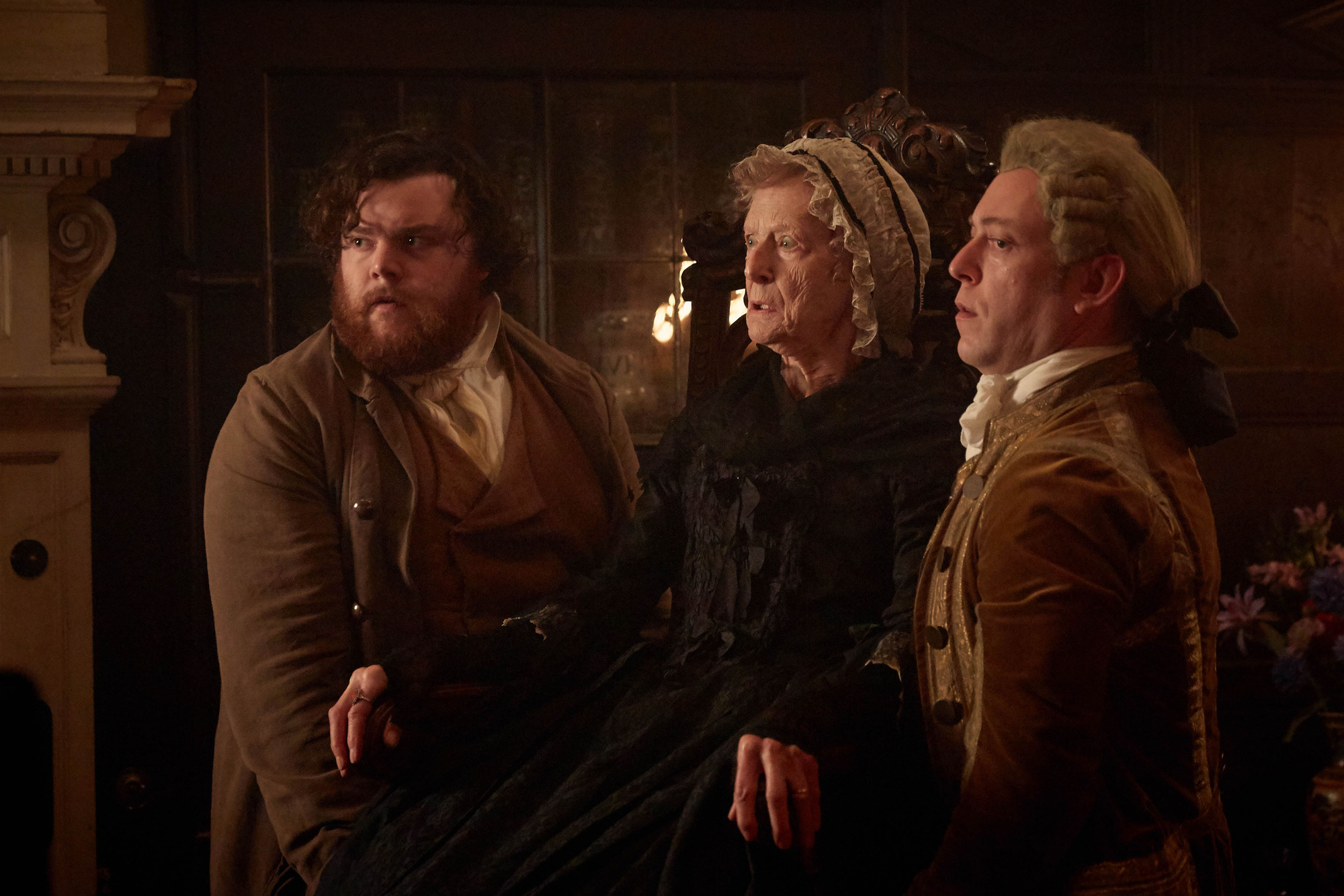 Tom Harry (TURLOUGH CONVERY), Aunt Agatha (CAROLINE BLAKISTON) - (C) Mammoth Screen - Photographer: Robert Viglasky