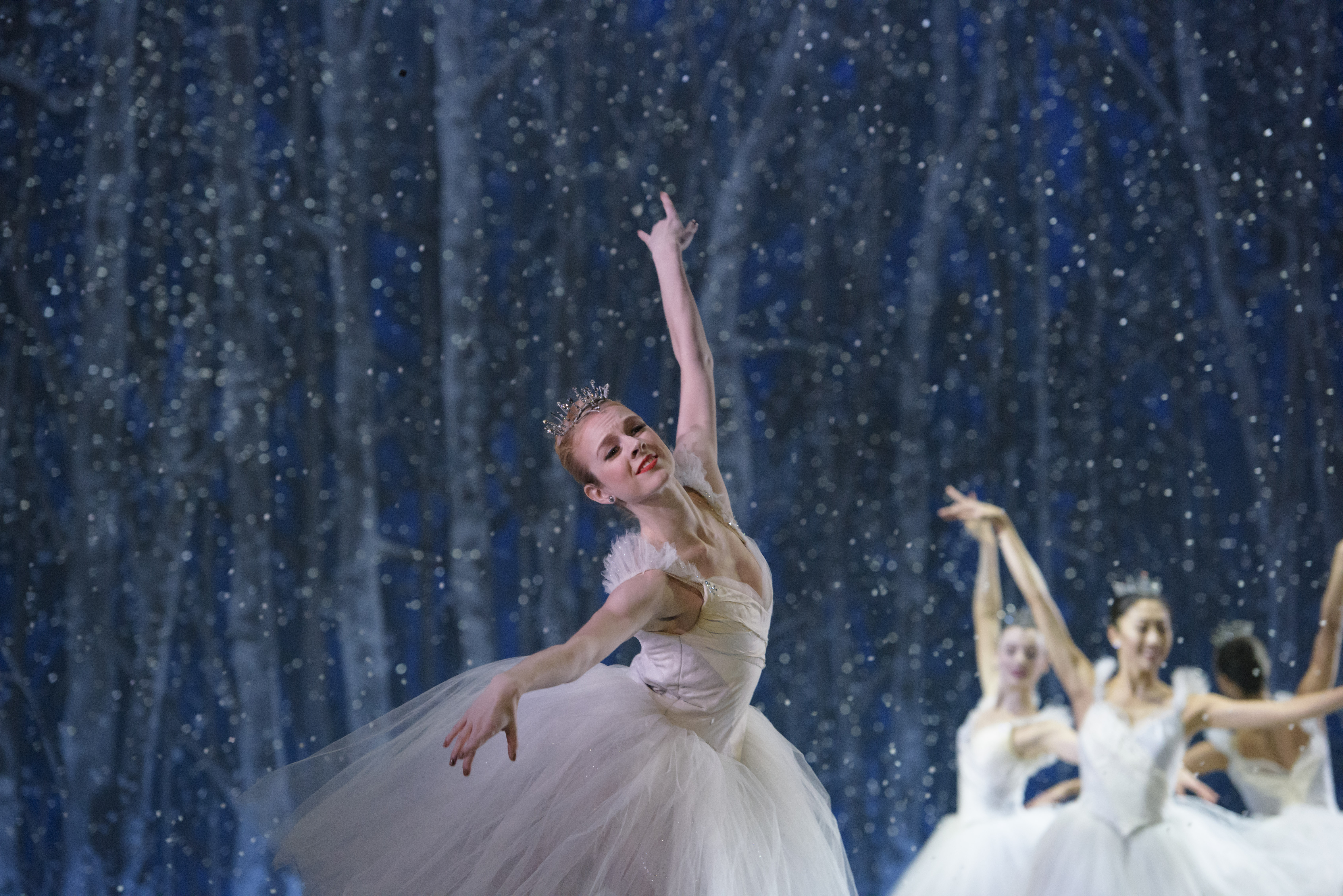 ballet dancer in the snow