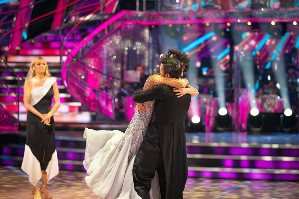 WARNING: Embargoed for publication until 20:10:01 on 13/12/2020 - Programme Name: Strictly Come Dancing - TX: 13/12/2020 - Episode: Results show 8 Semi Final  (No. n/a) - Picture Shows: ++RESULT SHOW++ **STRICTLY EMBARGOED UNTIL 13/12/2020 20:10:01** Tess Daly, Ranvir Singh, Giovanni Pernice - (C) BBC - Photographer: Guy Levy