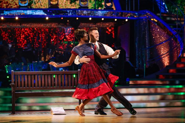 Strictly Come Dancing professional dancer and celebrity on the show
